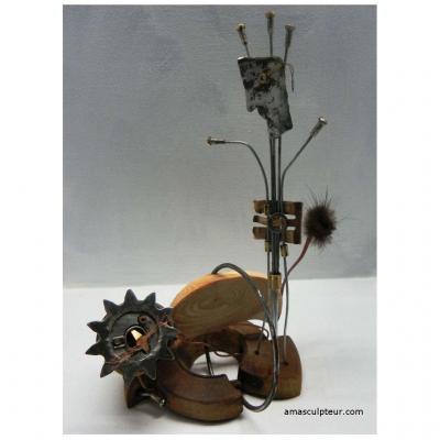 Le Chat fait son cirque sculpture par Ama