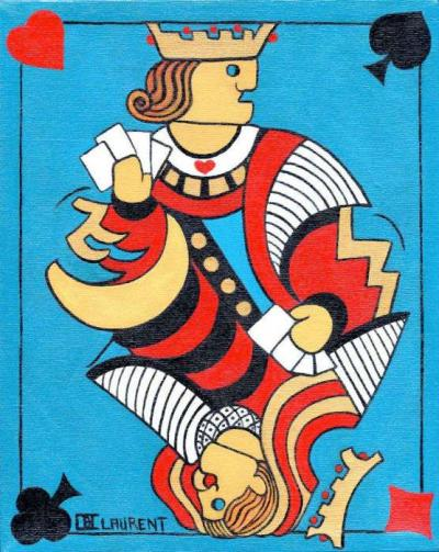big playing card par Claude Laurent