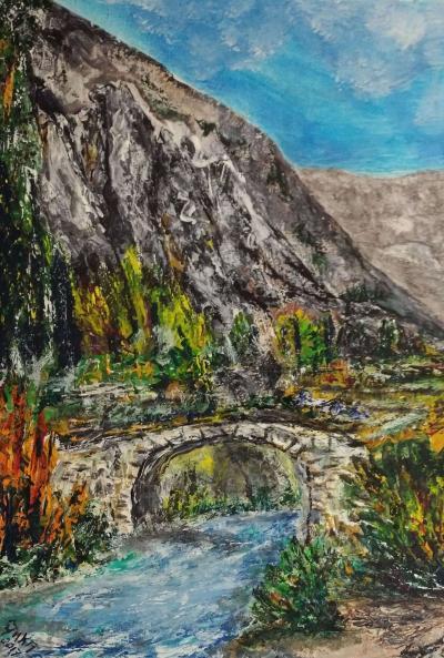 """Tableau """"Le Pont du Roc"""""""