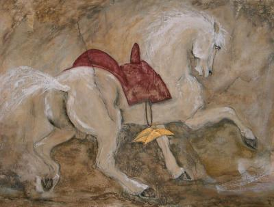 """Tableau """"Fougueux"""" par Anne-Marie VINCENT"""