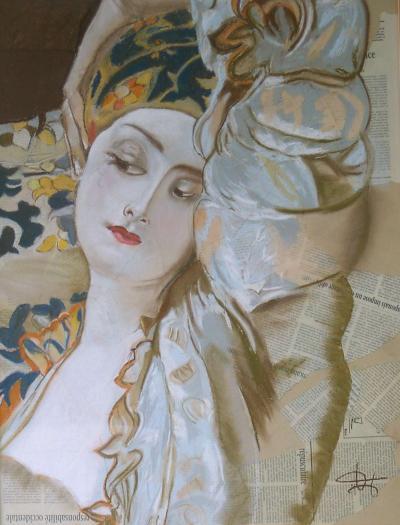 """Tableau """"Rêverie"""" par Anne-Marie VINCENT"""