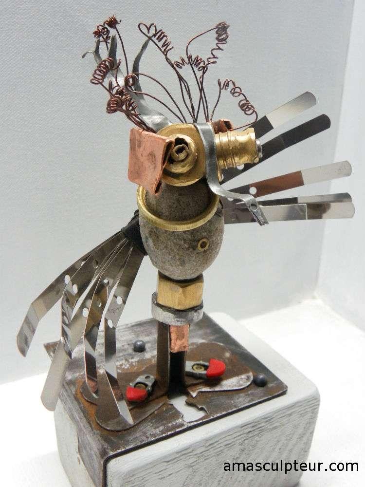 Quetzal, sculpture métal par Ama