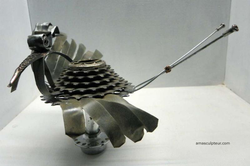 Sculpture oiseau métal par Ama