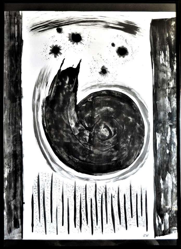 Rêve, acrylique au couteau par Em'Art