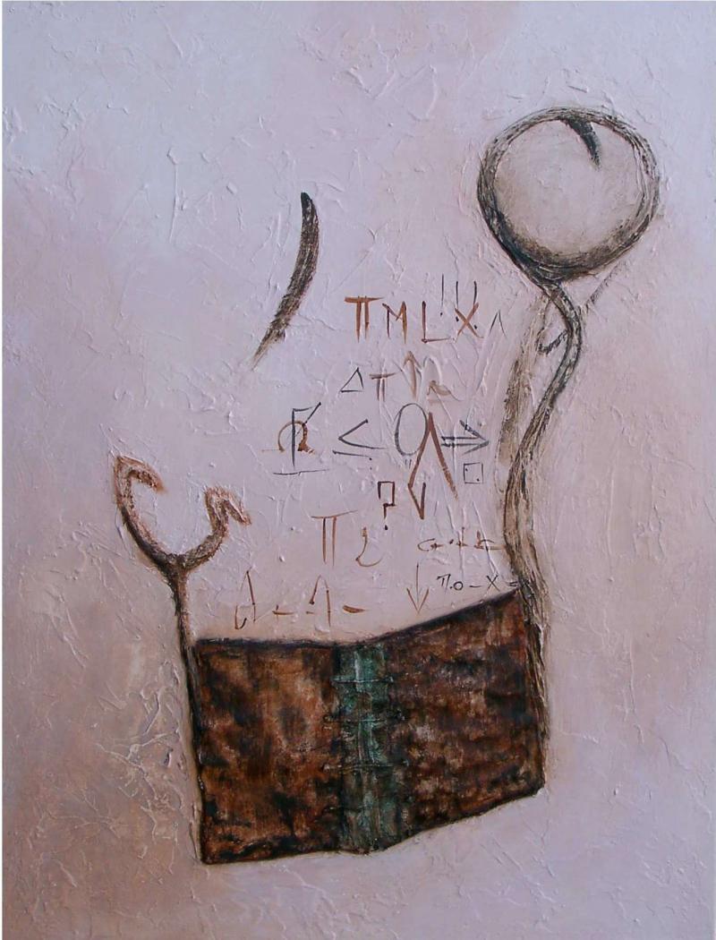 """Titre: """" Reflet d'intelligence"""" par Anne-Marie VINCENT"""