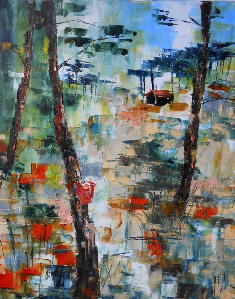 Tableau Forêt dans les Landes