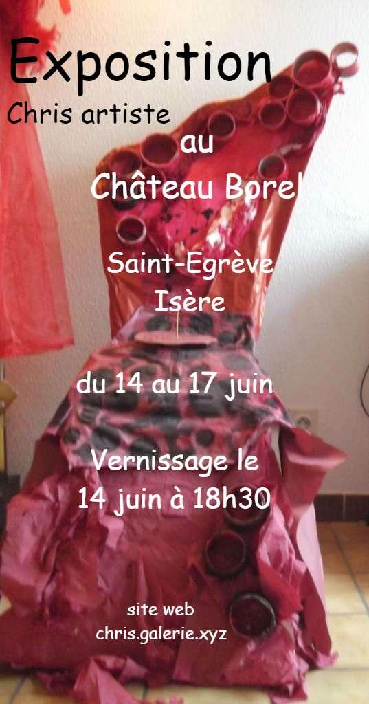 Au Mal Assis -  Exposition Chris artiste à Saint Egrève ( 38 )