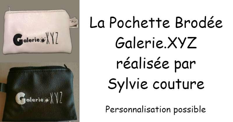 Pochette  brodée Galerie XYZ
