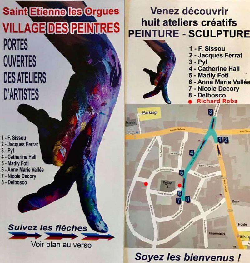 Village des Peintres à Saint-Etienne les Orgues (04)