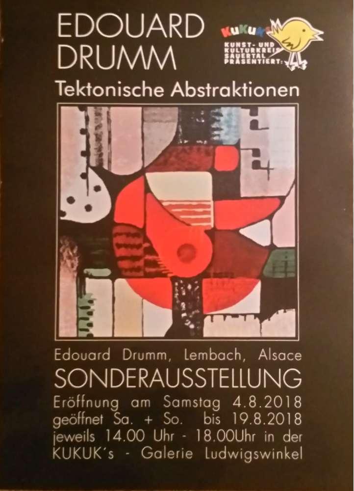 Edouard Drumm expose en Allemagne