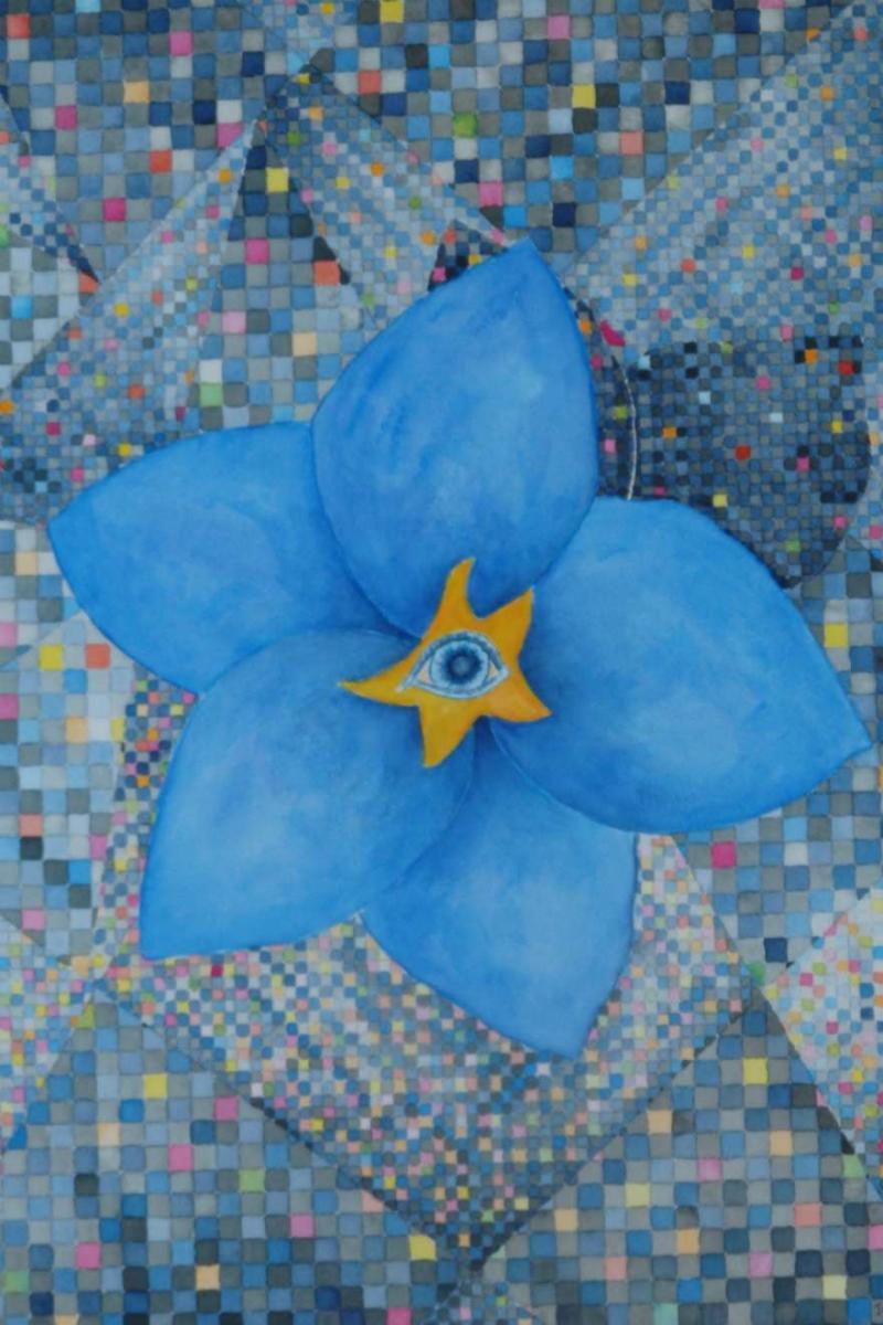 Fleur bleue de l'amitié