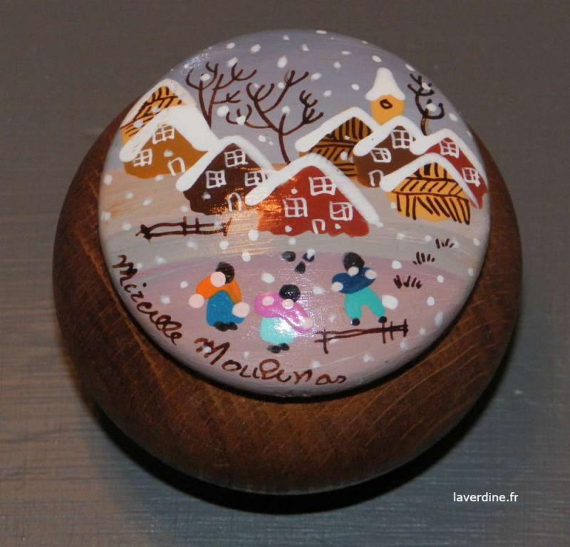 Petite boite en bois décorée / La Verdine