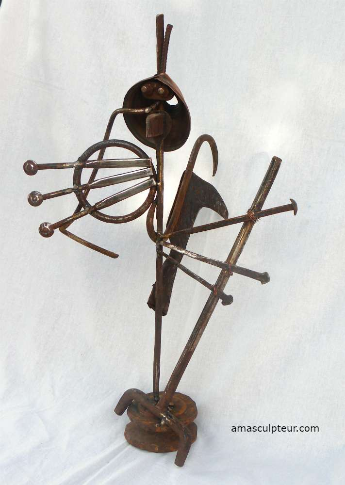 BEBOP sculpture métal par Ama
