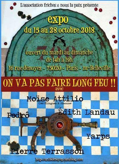 """Exposition """" On va pas faire long feu - Paris 20ème"""