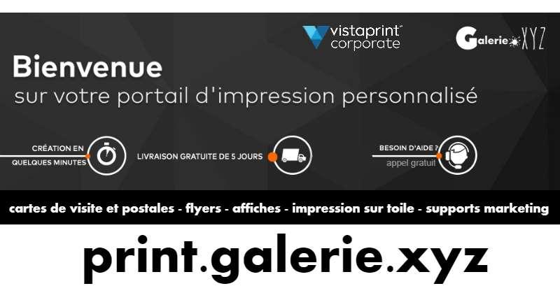 Service Impression Pour Artistes Et Benevoles Galerie XYZ