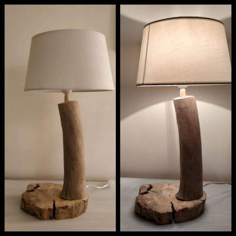 """Lampe Bois Flotté """" La Naturelle"""""""