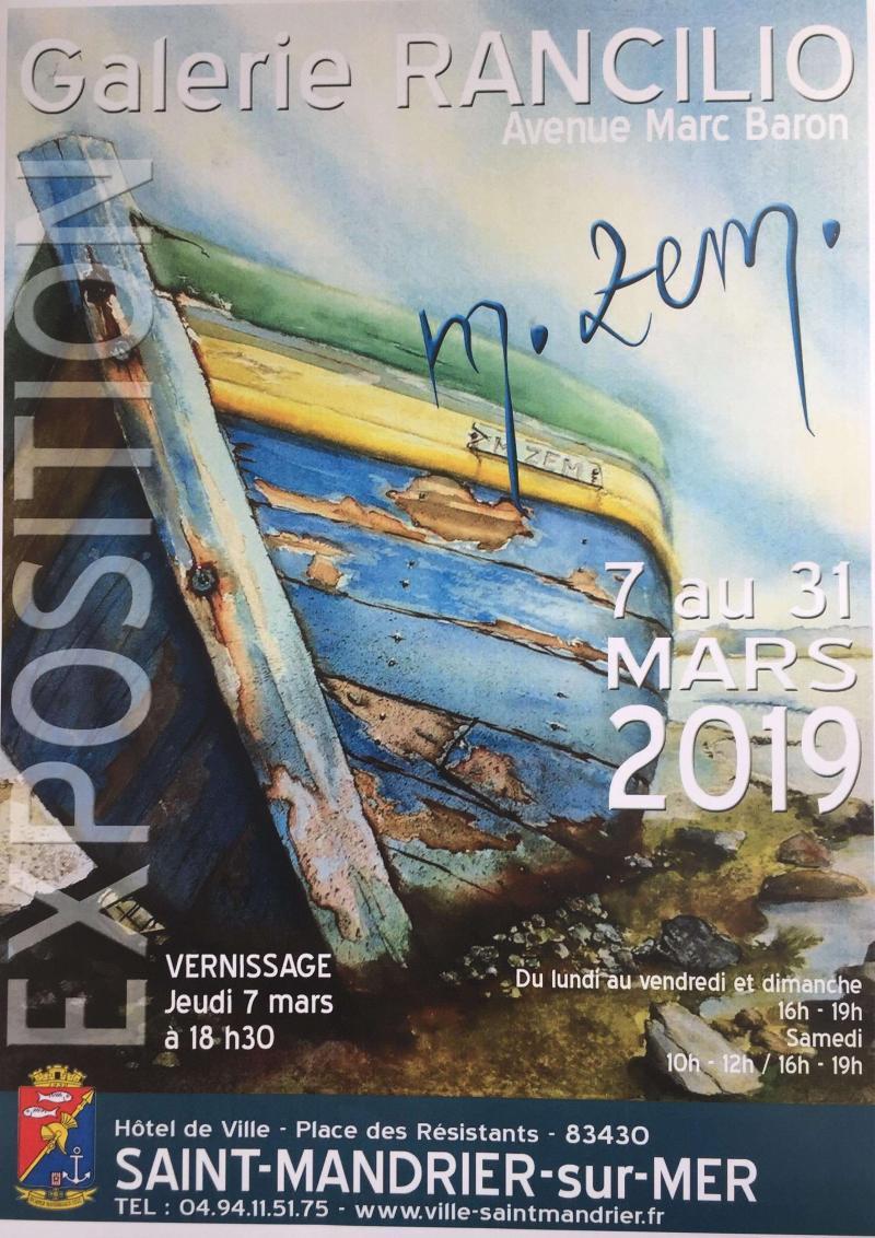 Exposition M.Zem à Saint Mandrier sur Mer ( 83 )