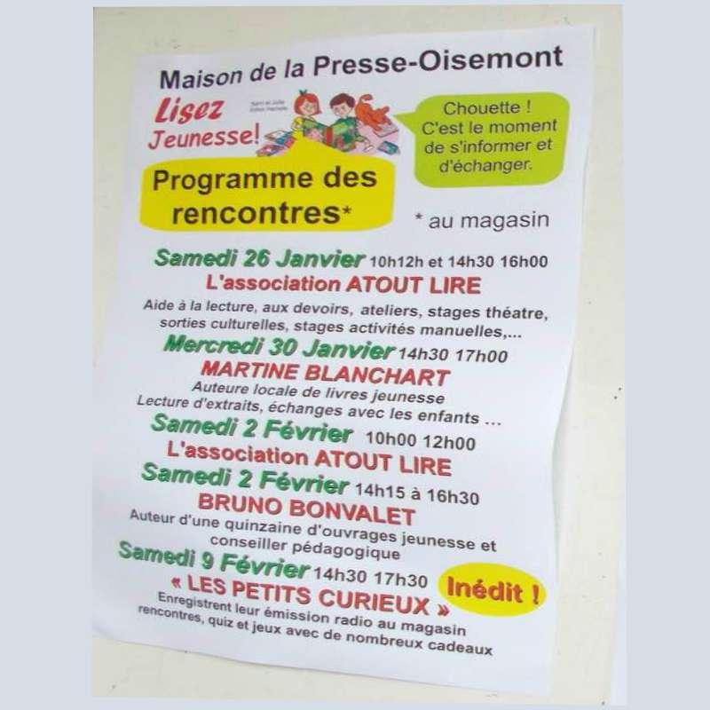 Rencontres Auteurs/Lecteurs à Oisemont ( 80)