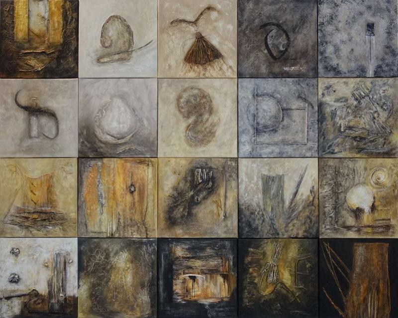 """Tableau """" Patchwork 2"""" par Anne-Marie VINCENT"""