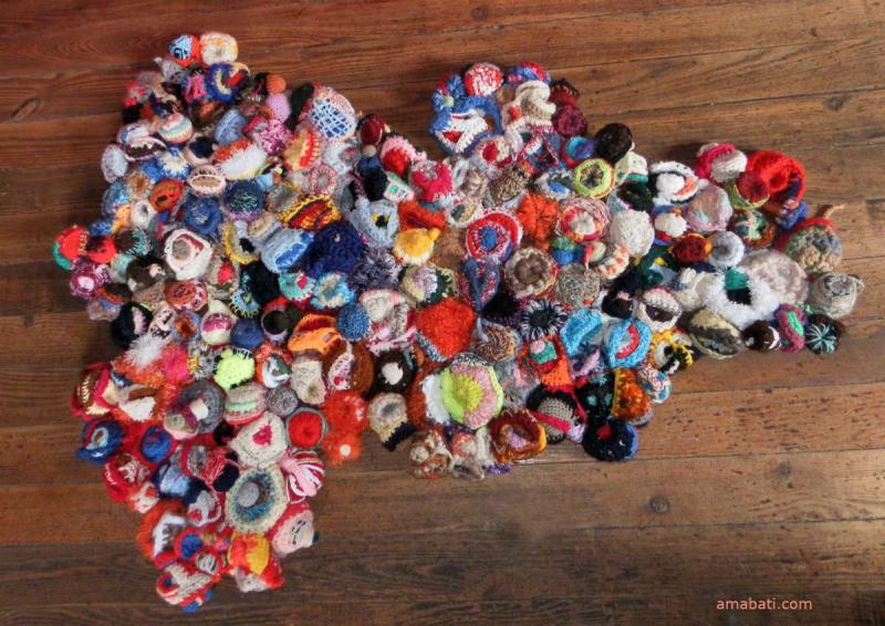 Art textile - tapis en sculptures de laine par Ama