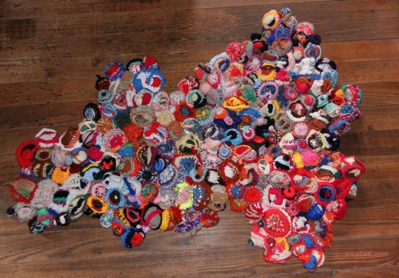 Art textile - Tapis en sculptures de laine