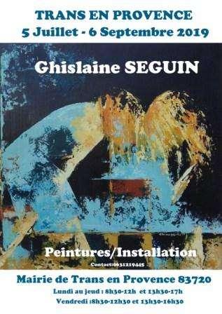 Peintures/installation Ghislaine Blanche SEGUIN (dept 83)