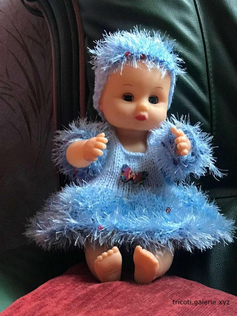 Angélique poupée habillée par Tricoti