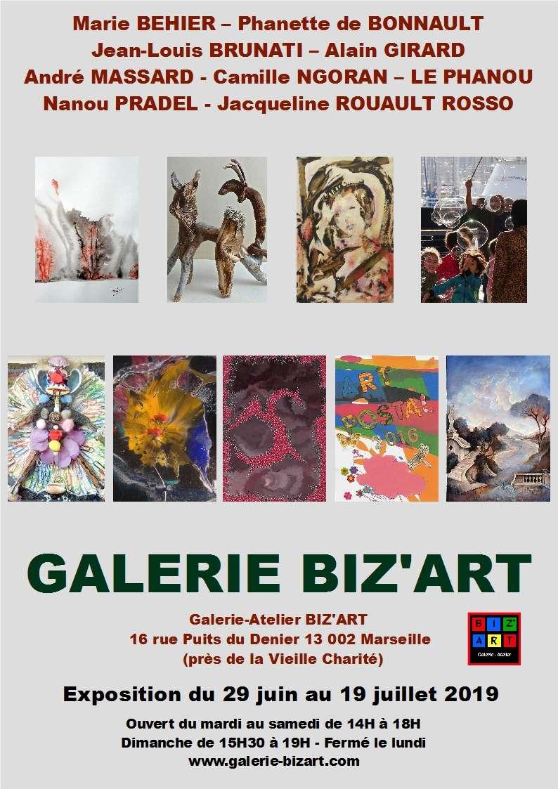 prolongation de l'exposition collective à Biz'Art Marseille