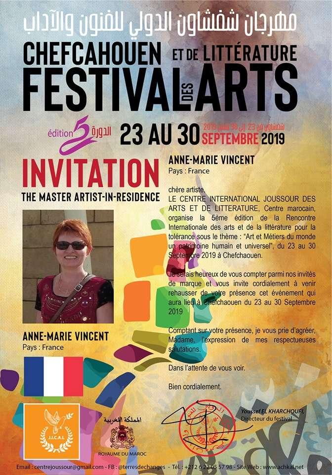 Festival International des Arts et de la Littérature avec Anne-Marie Vincent