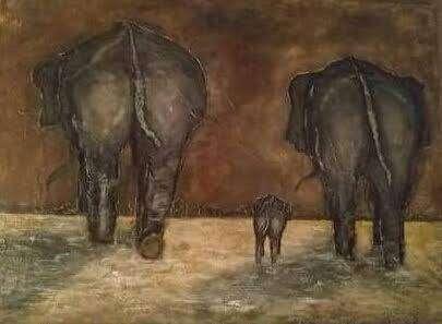 """""""La famille des éléphants"""" pour l'éducation"""