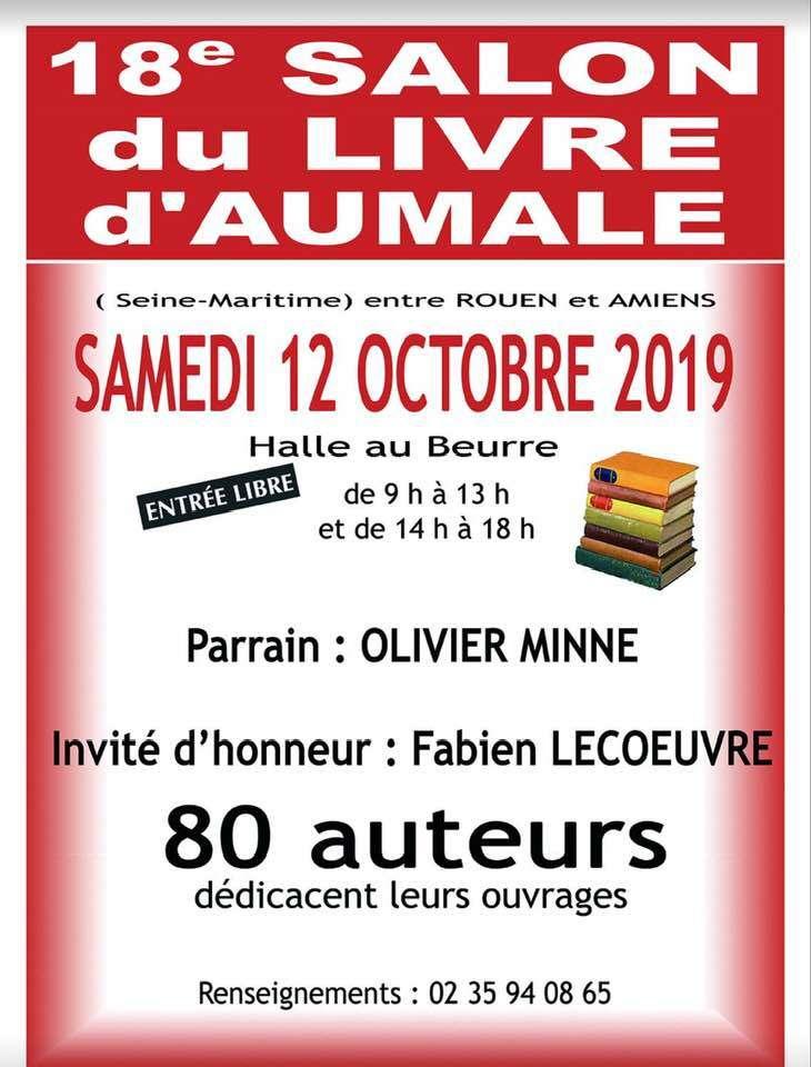 18ème salon du livre à Aumale en présence de Martine Blanchart (76)