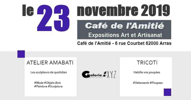 Expo-vente au café de l'Amitié