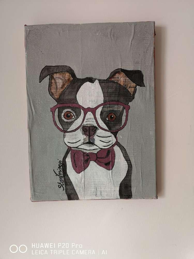 Le chien chic aux lunettex
