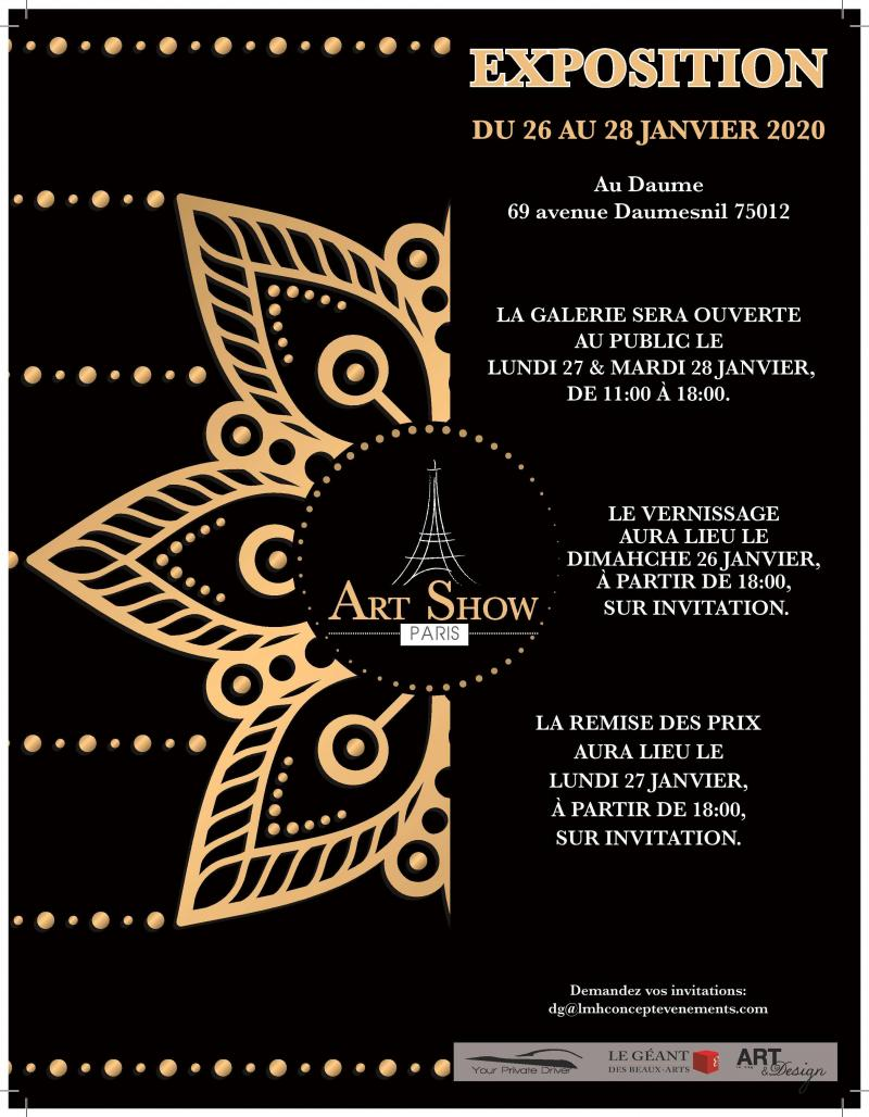 Exposition Art&Design 26 au 28 Janvier 2020
