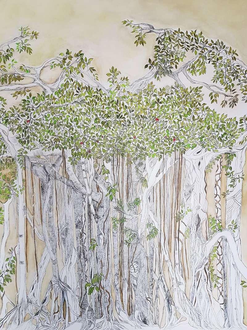 MUR DE BANIAN (Banyan Wall)