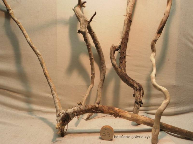 Lot de bois flottés n°33 - de 54 à 116cm