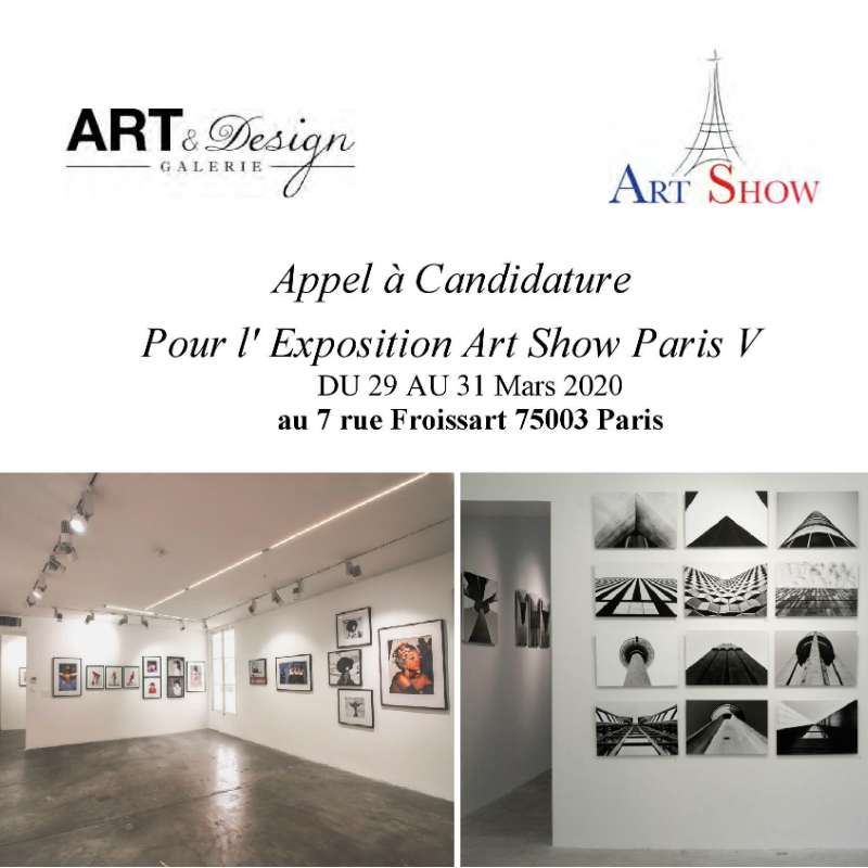 Appel à Candidature Art Show Paris V Mars 2020
