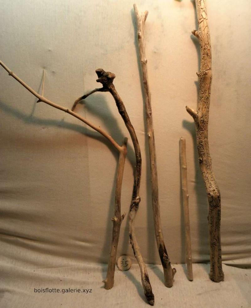 Lot de 5 bois flottés n°35 - de 40 à 76cm
