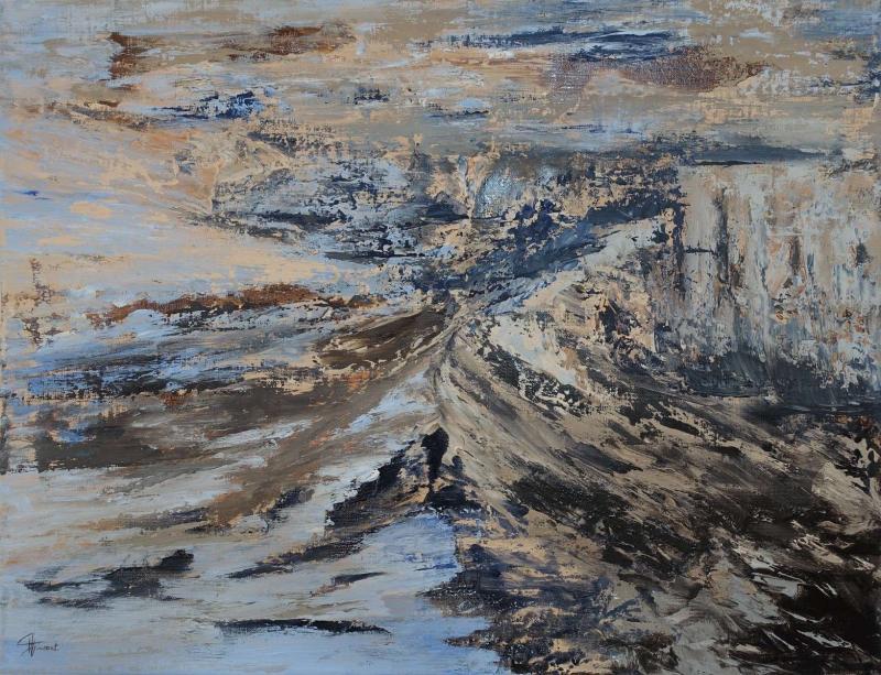 """Tableau """" Les grands espaces"""" par Anne-Marie VINCENT"""