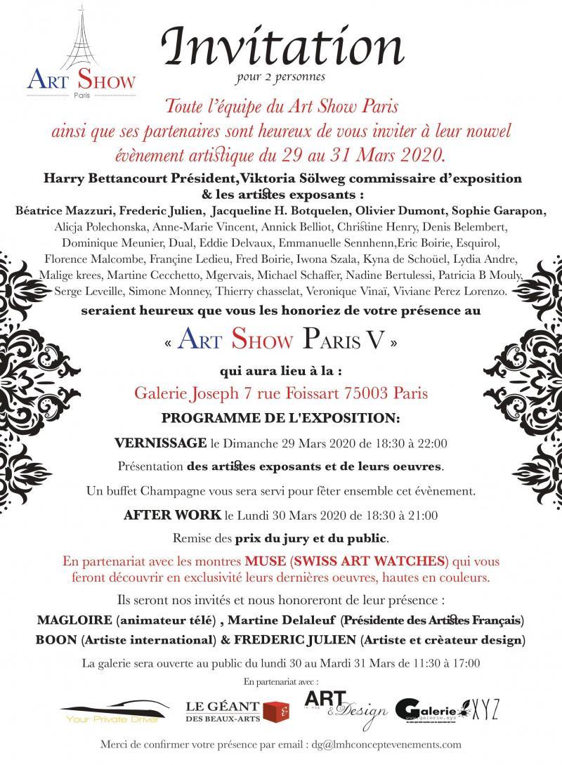 Exposition Art Show Paris V