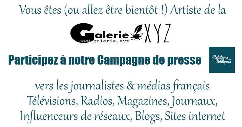 Artiste, participez à nos campagnes de Presse Radios, Télévisions, Magazines, Blogs