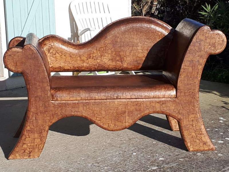 Méridienne et ses deux fauteuils emboitables