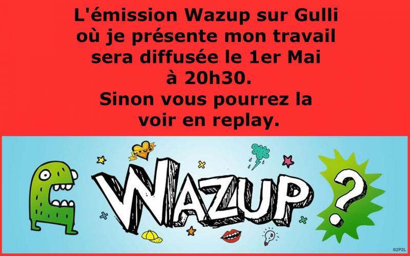 Emission Wazup - Gulli retrouvez  Stéphane Munoz Cartonniste