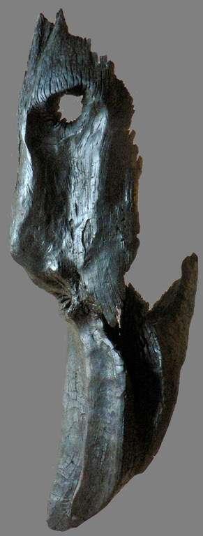 """""""Dignité déchirée"""". Sculpture naturelle en bois flotté par Liger"""