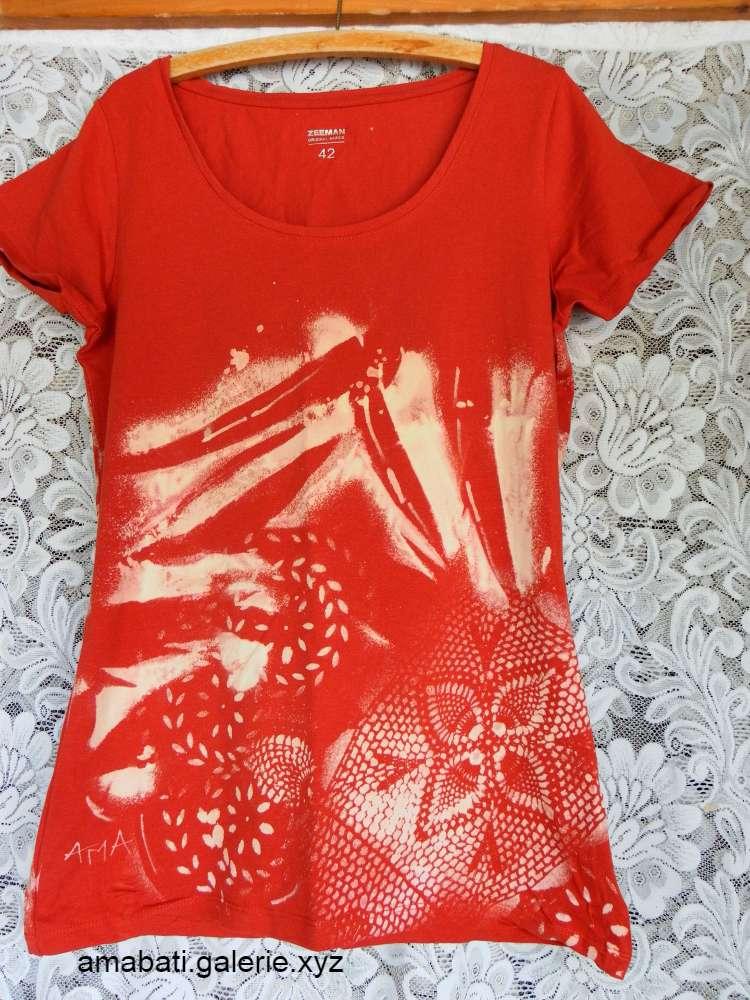 "T-shirt ""balade fleurie "" - Taille 42"