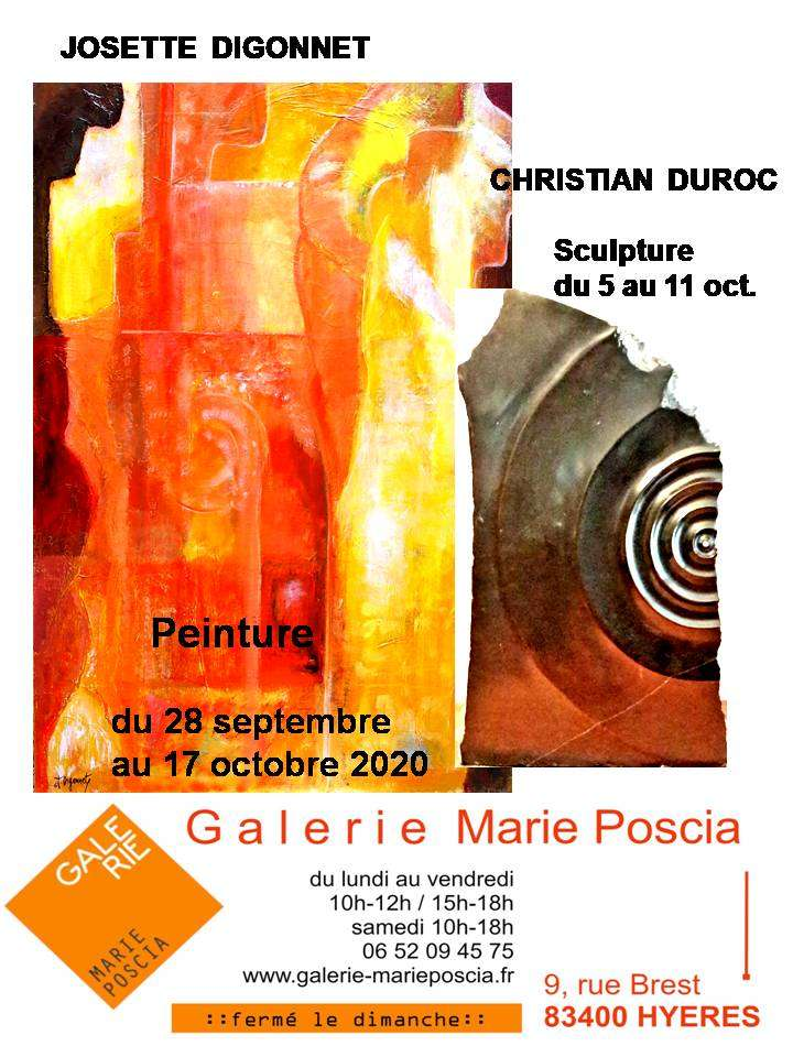 Exposition J.Digonnet et Duroc (dpt 83 )