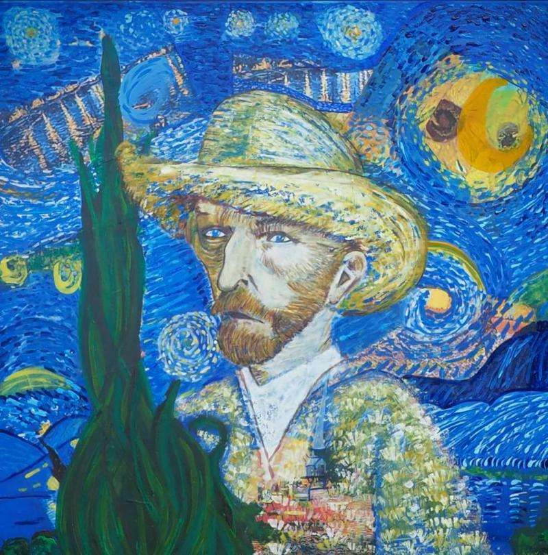 Van Gogh et sa nuit étoilée par Artedelph