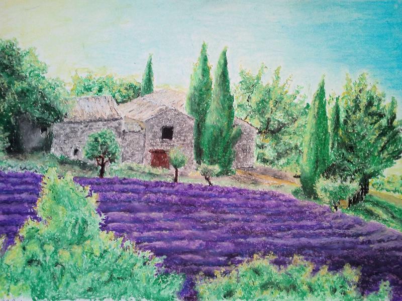 Paysage provençal par Anne Kaskarian