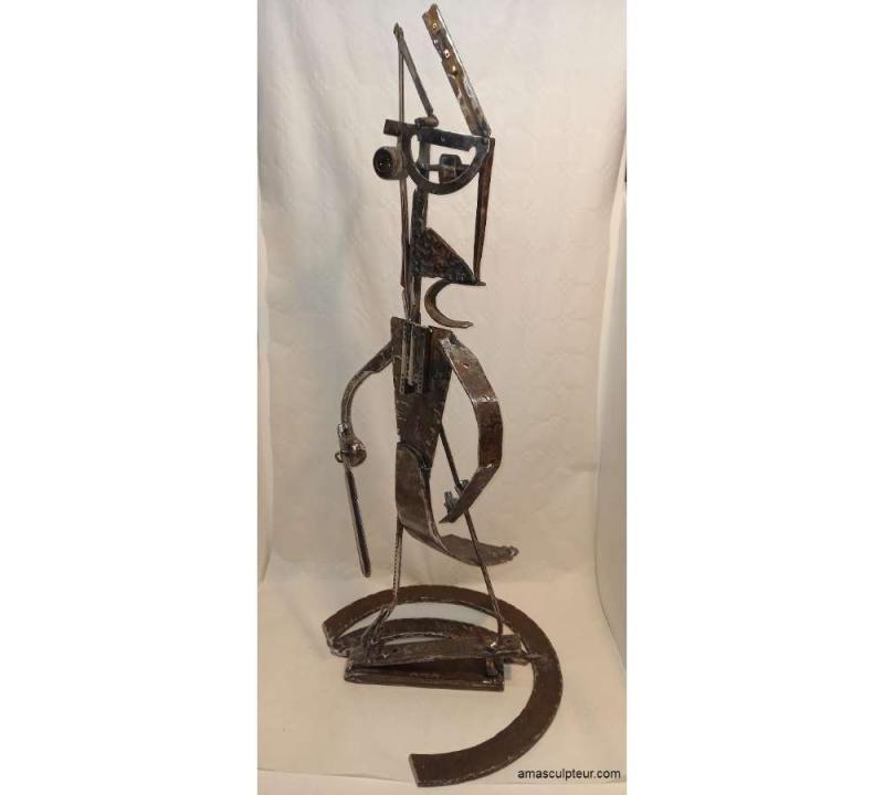 """Sculpture """" Guerrier Perse """" par Ama - prix 1600€"""