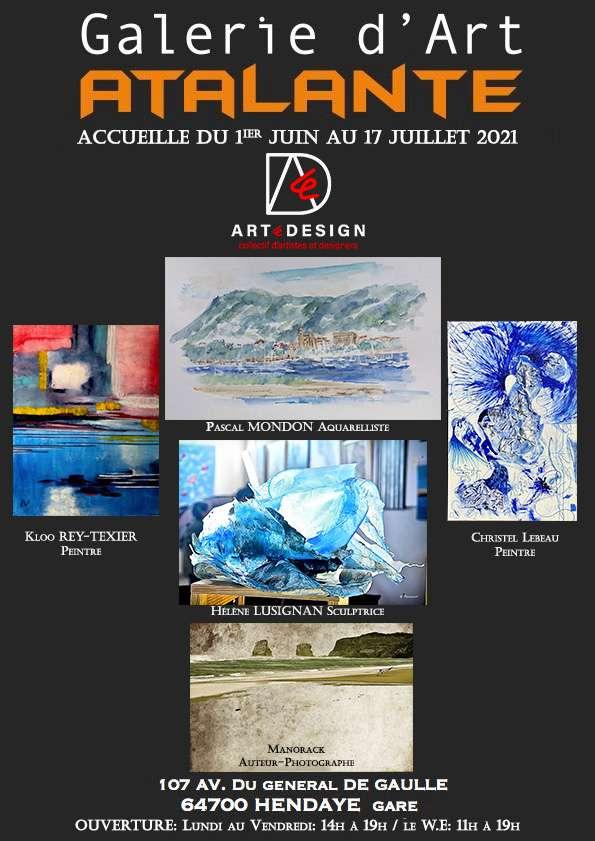 Galerie Atalante vous invite à l'expo du collectif ARTéDESIGN (dpt 64)